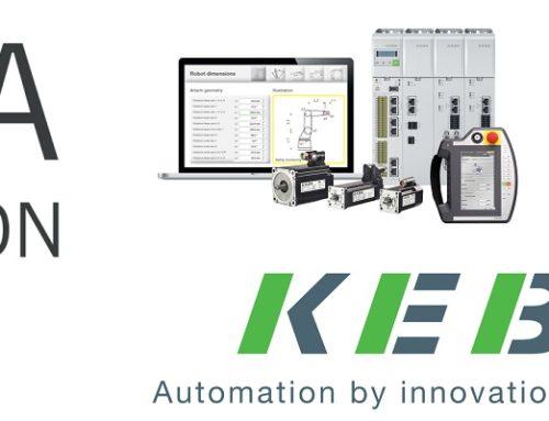 Simulacion Pal260 de Comau en sistema de paletizado con electronica Keba